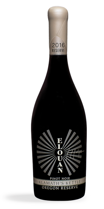 Klamath Kettle Oregon reserve Pinot Noir bottle shot vertical