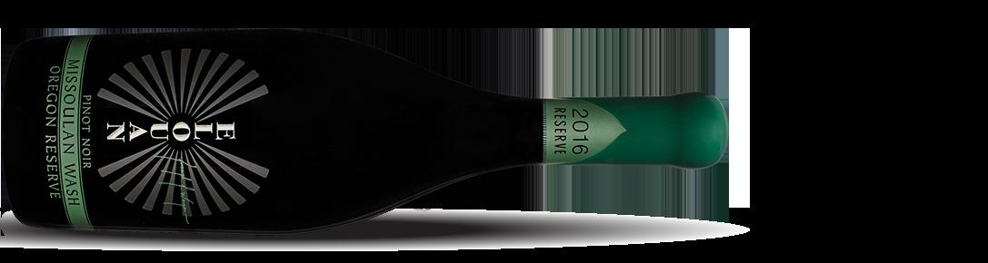 Missoulan wash Oregon reserve Pinot Noir bottle shot horizontal