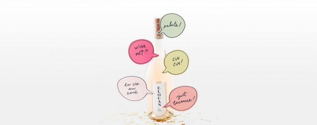 Just because wine labels affixed to Elouan Rosé bottle
